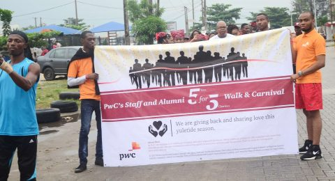Charity walk sponsor by PWC