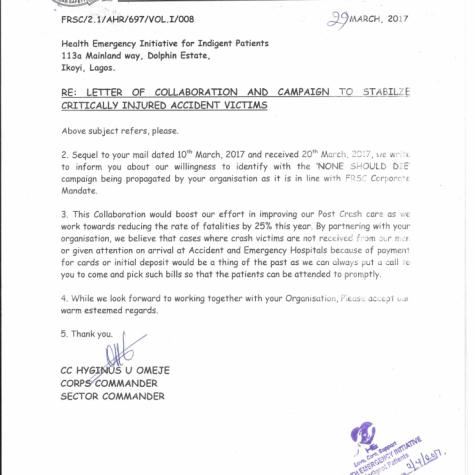 FRSC Collboration letter