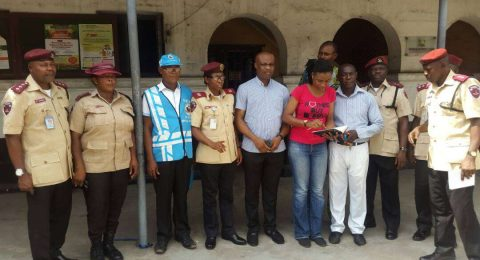 HEI in poartnership with FRSC donate medical relief item to social worker, General Hospital Lagos