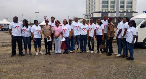 HEI member ready for PWC charity walk, December 2017