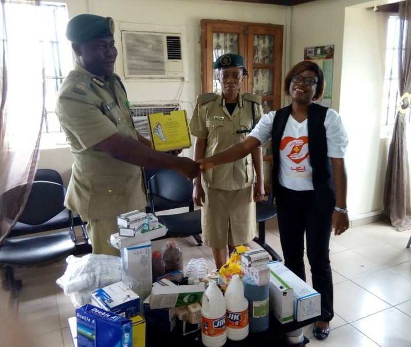 Presentation of Medical item at Kirikiri Medium Prison