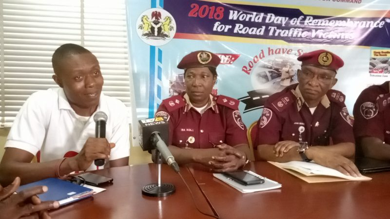 Representative of HEI at the FRSC Press Conference