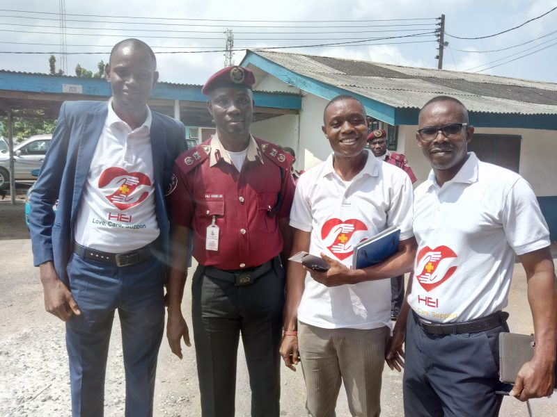 HEI Team with FRSC Sector Commander, Lagos