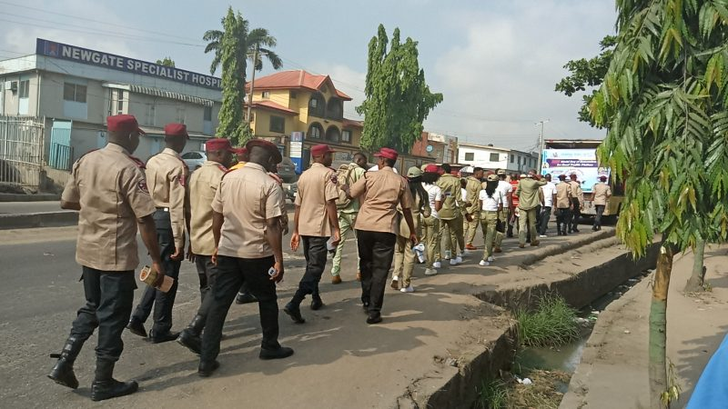 Road walk with FRSC