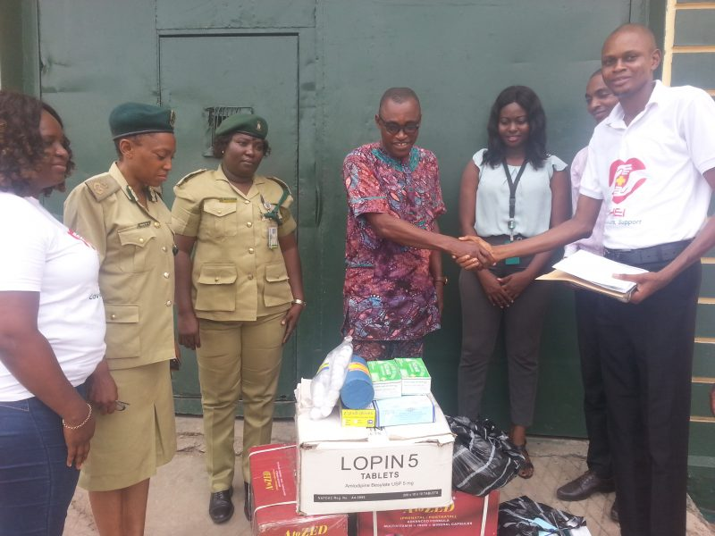 Donation of Drugs And Other Medical Item at Kirikiri Medium Prison