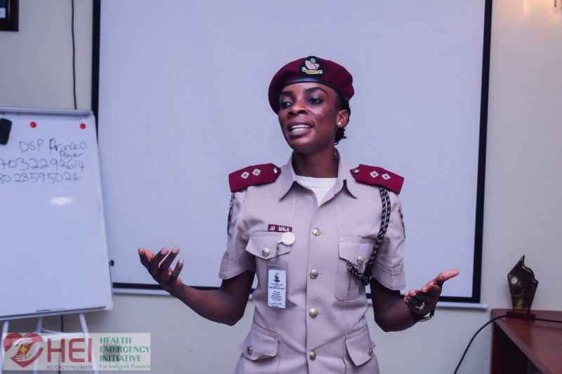 FRSC official at HEI First Responders' Training