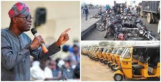 Lagos govt bans keke and okada